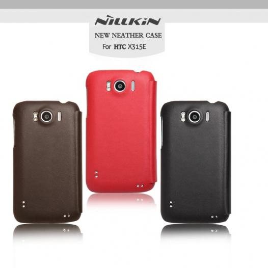 Кожаный чехол (книжка) Nillkin для HTC Sensation XL (+пленка)