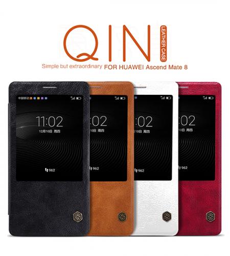 Кожаный чехол (книжка) Nillkin Qin Series для Huawei Mate 8