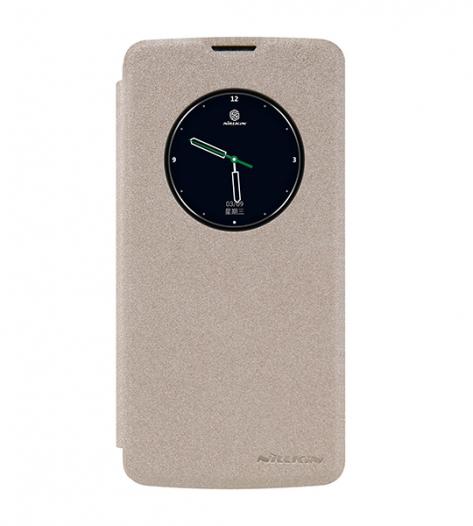 Кожаный чехол (книжка) Nillkin Sparkle Series для LG K8 K350E