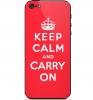 "TPU чехол IMD Print ""Keep calm"" для Apple iPhone 5/5S/SE"