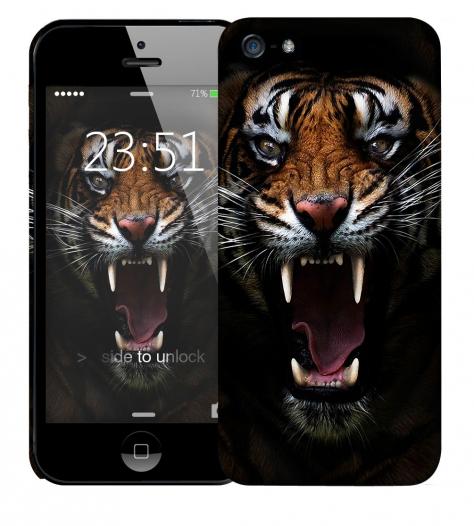Чехол «Супер тигр» для Apple iPhone 5/5s