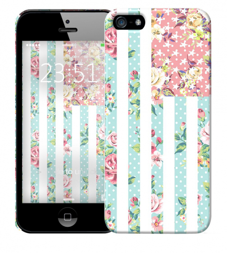 Чехол «Цветы Америка» для Apple iPhone 5/5s