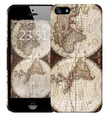 Чехол «Карта» для Apple iPhone 5/5s