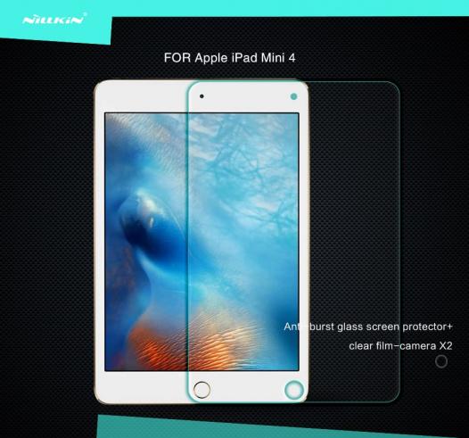 Защитное стекло Nillkin Anti-Explosion Glass Screen (H+) (закругл. края) для Apple iPad mini 4