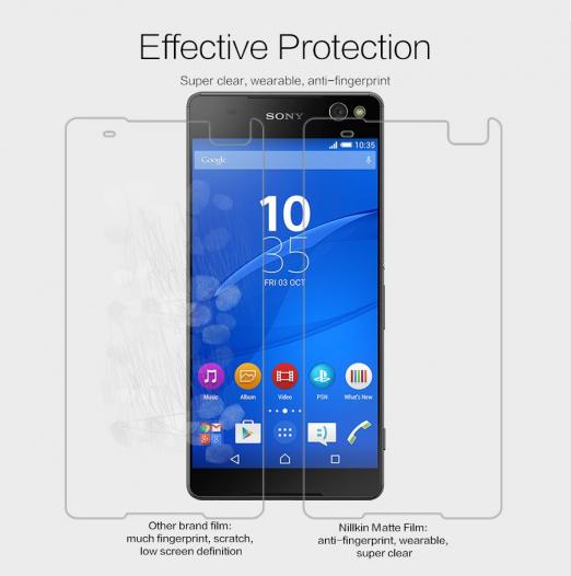 Защитная пленка Nillkin для Sony Xperia C5 Ultra