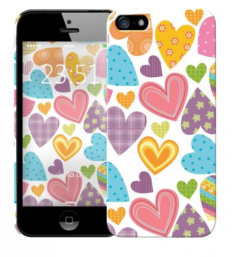 Чехол «Сердечки» для Apple iPhone 5/5s