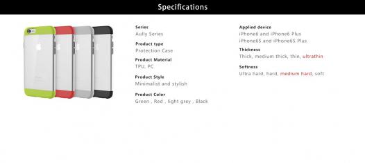 TPU+PC чехол Rock Aully Series для Apple iPhone 6/6s (4.7