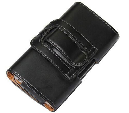 Универсальный кожаный чехол-футляр на пояс на смартфоны до 4,7
