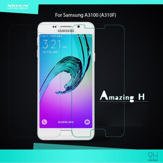 Защитное стекло Nillkin Anti-Explosion Glass (H) для Samsung A310F Galaxy A3 (2016)