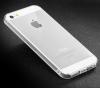 Тонкий прозрачный силиконовый чехол Msvii для Apple iPhone 5/5S/SE с заглушкой