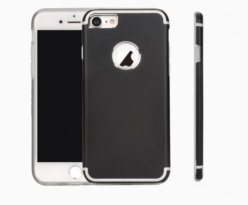 Ультратонкий TPU чехол c металлическими вставками YED для Apple iPhone 7 (4.7