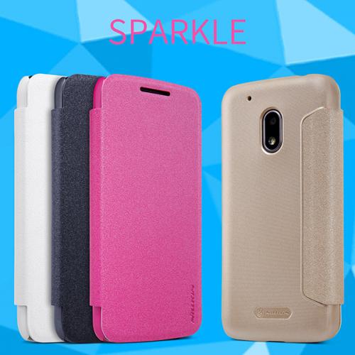 Кожаный чехол (книжка) Nillkin Sparkle Series для Motorola Moto G4 Play