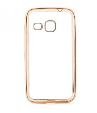 TPU чехол с золотой каймой для Samsung J105H Galaxy J1 Mini / Galaxy J1 Nxt