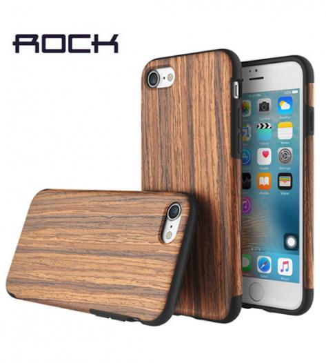 Деревянная накладка Rock Origin Series (Grained) для Apple iPhone 7 (4.7