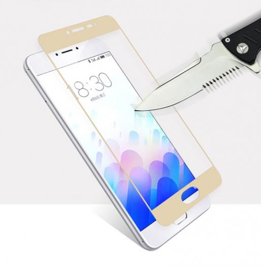 Защитное стекло CP+ на весь экран (цветное) для Meizu M3 Note