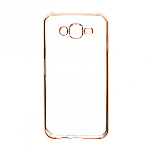 Прозрачный силиконовый чехол для Samsung J500H Galaxy J5 с глянцевой окантовкой