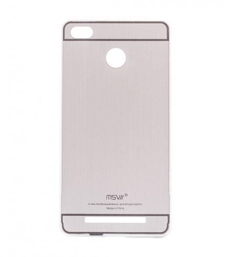 Металлический бампер с акриловой вставкой Msvii для Xiaomi Redmi 3 Pro / Redmi 3s