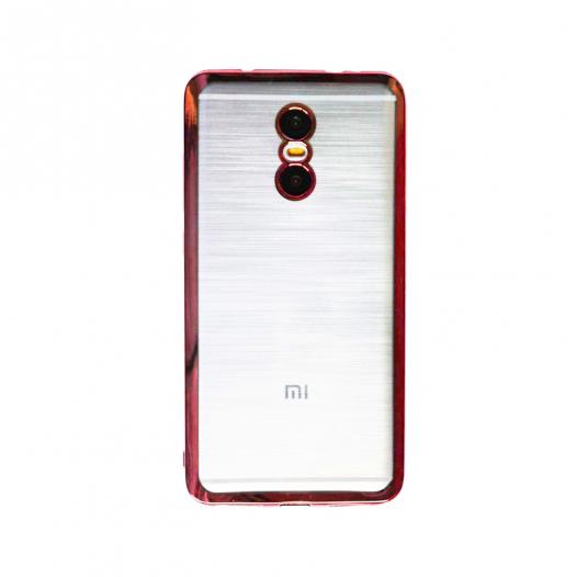 Прозрачный силиконовый чехол для Xiaomi Redmi Pro с глянцевой окантовкой