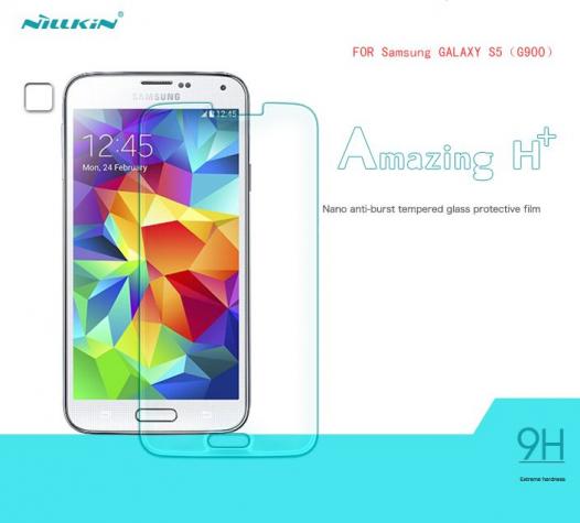 Защитное стекло Nillkin Anti-Explosion Glass Screen (H+) (закругл. края) для Samsung G900 Galaxy S5