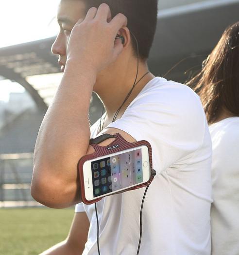 Неопреновый спортивный чехол на руку Rock Sports Armband для Apple iPhone 6/6s (4.7