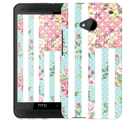 Чехол «Цветы Америка» для HTC One