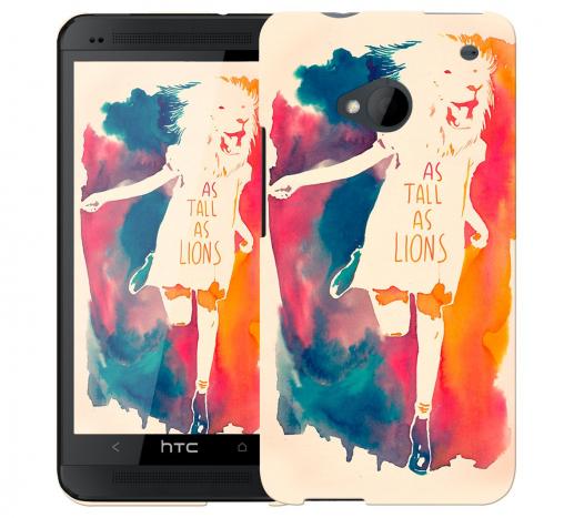 Чехол «As tall as lion» для HTC One