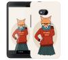 Чехол «Nerdy girl» для HTC One