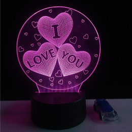3D лампа-светильник