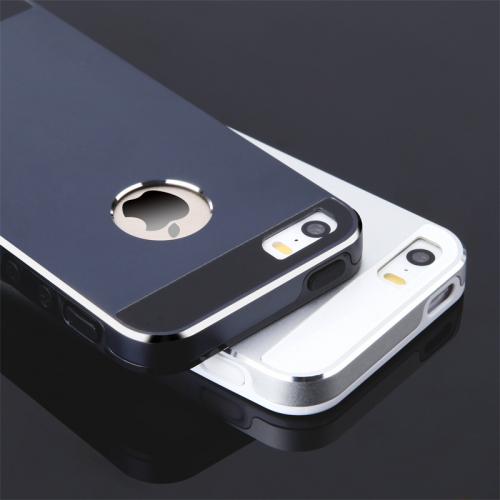 Ультратонкий TPU чехол c металлическими вставками YED для iphone5/5S/5SE