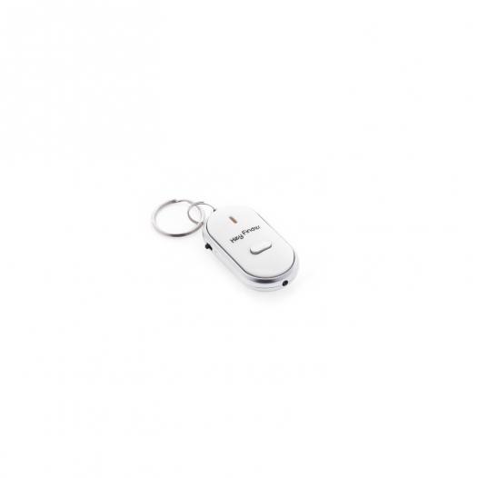 Брелок для поиска ключей, отзывающийся на свист (с фонариком)