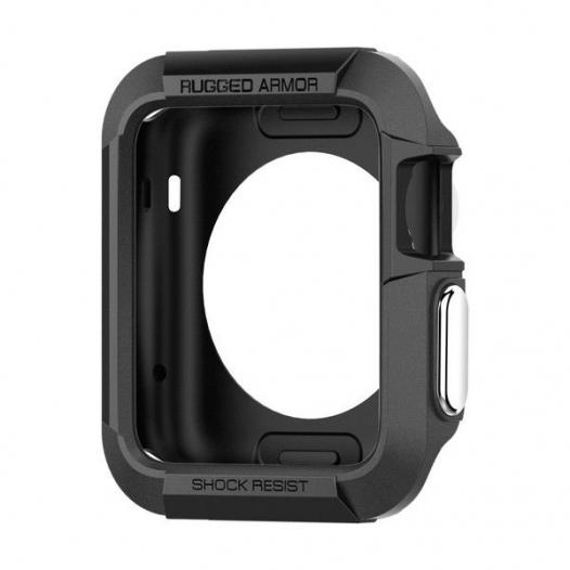 TPU чехол SGP Rugged Armor Series для Apple watch 38mm (+ пленка)