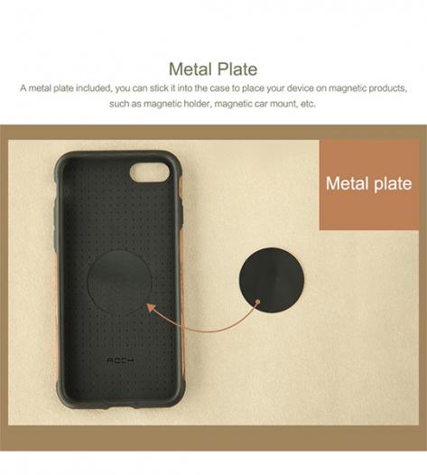 Деревянная накладка Rock Origin Series (Grained) для Apple iPhone 7 plus (5.5