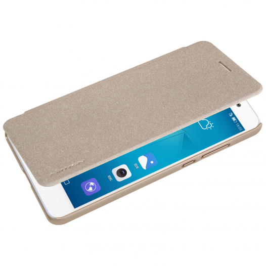 Кожаный чехол (книжка) Nillkin Sparkle Series для Huawei Y6 II