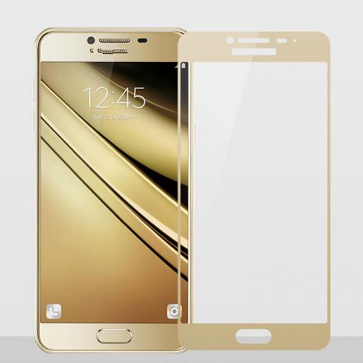 Защитное стекло CP+ на весь экран (цветное) для Samsung Galaxy C7