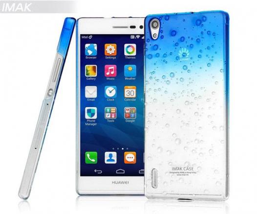 Пластиковая накладка IMAK Colorful Raindrop Series для Huawei Ascend P7 (+ пленка)