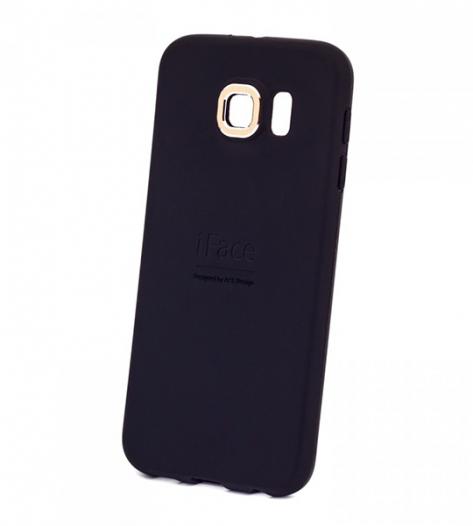 TPU чехол с металлической вставкой iFace для Samsung Galaxy S6 G920F/G920D Duos