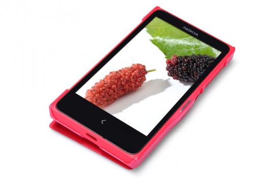 Кожаный чехол (книжка) Nillkin Fresh Series для Nokia X / X+