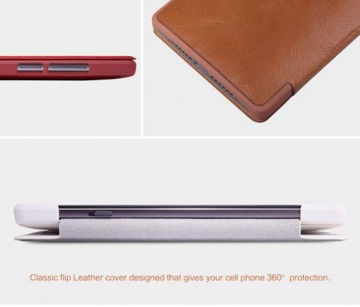 Кожаный чехол (книжка) Nillkin Qin Series для OnePlus 2