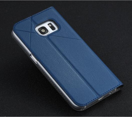 Кожаный чехол-книжка Msvii для Samsung G930F Galaxy S7 с функцией подставки