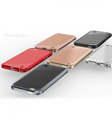 Алюминиевый бампер Luphie Blade Sword для Apple iPhone 5/5S/SE + наклейка из кожи на заднюю панель