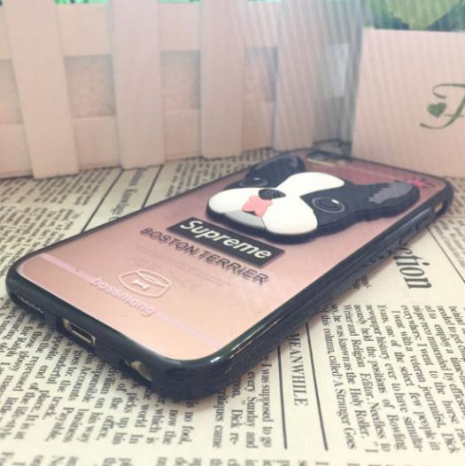 TPU чехол с рельефными рисунком собачка для Apple iPhone 6/6s (4.7