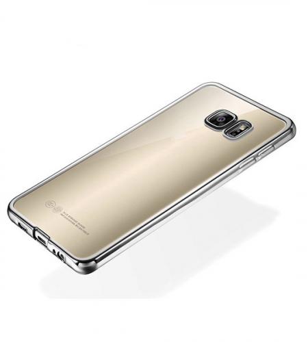 Прозрачный силиконовый чехол для Samsung Galaxy S6 G920F/G920D Duos с глянцевой окантовкой