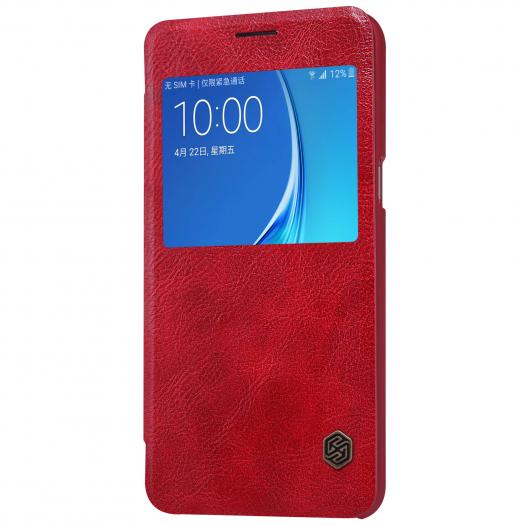 Кожаный чехол (книжка) Nillkin Qin Series для Samsung J710F Galaxy J7 (2016)