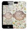"Чехол ""Don't Touch"" для Apple iPhone 5/5S"