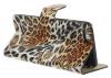 """Кожаный чехол-книжка Print """"Leopard"""" для Apple iPhone 6/6s (4.7"""")"""