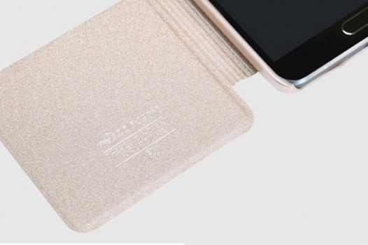 Кожаный чехол (книжка) Nillkin Sparkle Series для Samsung N910H Galaxy Note 4