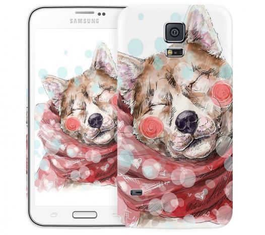 Чехол «Влюбленная собака» для Samsung Galaxy S5