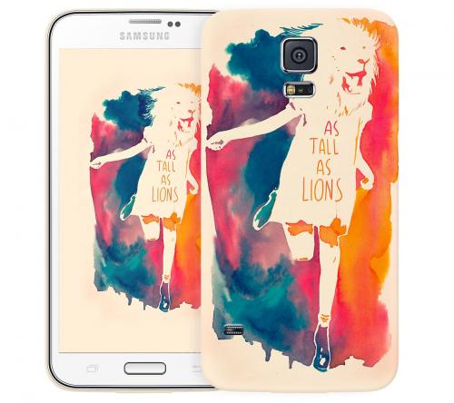 Чехол «As tall as lion» для Samsung Galaxy S5