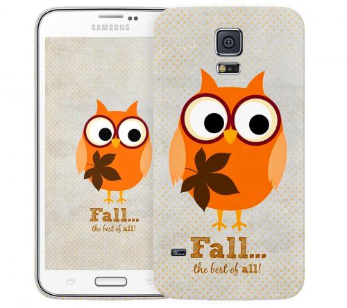 Чехол «Fall owl» для Samsung Galaxy S5