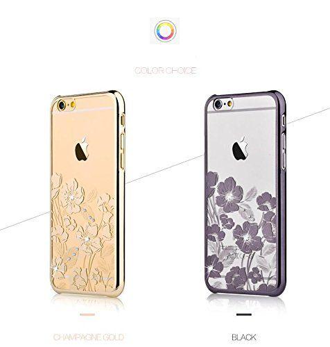 Пластиковая накладка со стразами (swarovski) DEVIA Rococo Series Flower для Apple iPhone 6/6s (4.7